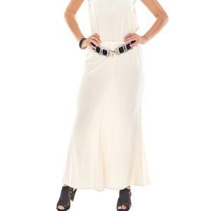 NWT Oh My Gauze! Mermaid Skirt Bone Ivory Maxi 2